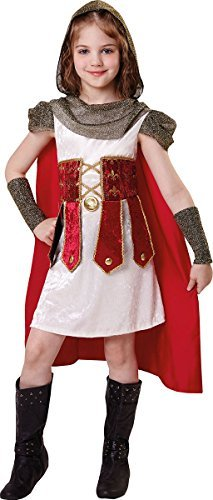 Römische Kind Prinzessin Kostüm - Kinder Mädchen Kostüm Party Buchwoche Tag Römisch Prinzessin Kostüm Outfit - Multi, Medium 122cm - 134cm