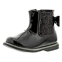 Princess Stardust Destiny Girls Synthetic Material Ankle Boots Black