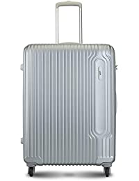 VIP Track Polycarbonate 76 Cms Silver Hardsided Check-in Luggage (Track)