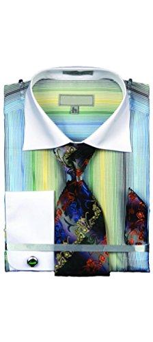 Sunrise Outlet -  Camicia Casual  -  Vestito modellante  - Maniche lunghe  - Uomo Verde