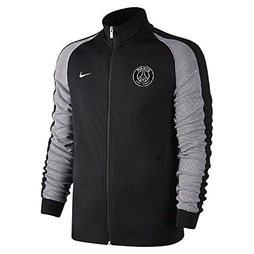 Nike Kinder Paris Saint-Germain Y Sportswear N98 Track Jacket Authentic Training Jacke, Schwarz/Metallisches Silber, XS