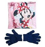Minnie Mouse Snood Schal und Handschuhe Mädchen (Blau, 3-7 Jahre)