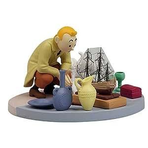 Tim & Struppi PVC-Figur auf dem Flohmarkt in Panoramabox, ca. 10cm