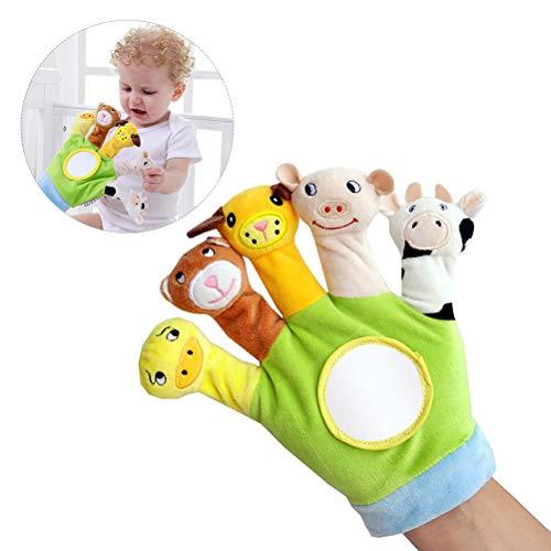 EisEyen Finger Plüsch Puppe Marionetten Handschuh Karikatur Tier Pädagogisches Spielzeug