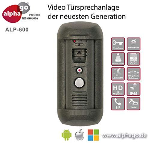 IP Video Türsprechanlage ALP-600 - ohne Cloud-Zwang - Gegensprechanlage - Türüberwachung - Fritz!Fon C4/C5 kompatibel-Steuerung über PC/Smartphone/Tablet-FTP Anbindung