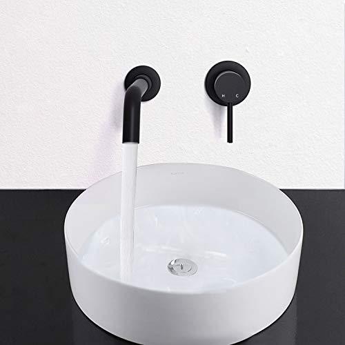 KWODE Grifos Lavabos Empotrados de 2 Orificios de lavabo baño grifo 360...