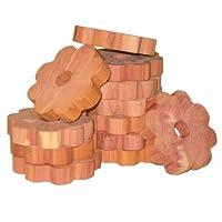 Household Essentials 14376-1 CedarFresh Red Cedar Wood Flower Rings for Hangers - Set of 20
