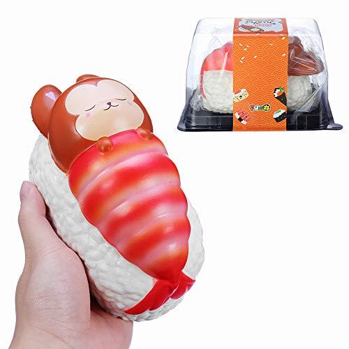 Yummiibear Squishy Foxy and Langost Blanket Jumbo Sushi Toy Levantamiento lento con caja de embalaje