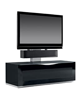 Triskom Comp 9C Glass TV Stand with Mount for LCD, LED or Plasma Screens 42, 46, 47, 50 inch by SAMSUNG, SONY, PHILIPS, TOSHIBA, PANASONIC, LG, JVC. Base Cabinet 125w x 50d x 40h cm