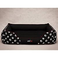Hobbydog cordura prestige, cama para perro, grande, negro con patas.
