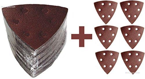 TOPANGEBOT 54 Blatt Delta mixed Haft Schleifpapier + 6 Blatt extra 93x93x93 mm Schleifscheiben
