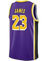 2802b78a5dea9 WELETION Los Angeles Lakers Jersey 23  Lebron James Male Baloncesto Ropa  (S