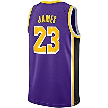 WELETION Los Angeles Lakers Jersey 23# Lebron James Male Baloncesto Ropa (S, Morado