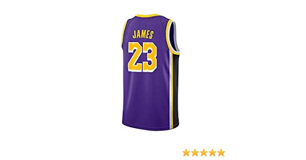 WELETION Los Angeles Lakers Jersey 23# Lebron James Male Basketball Clothing