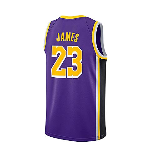 10037bca9ae WELETION Los Angeles Lakers Jersey 23  Lebron James Male Baloncesto Ropa  (S
