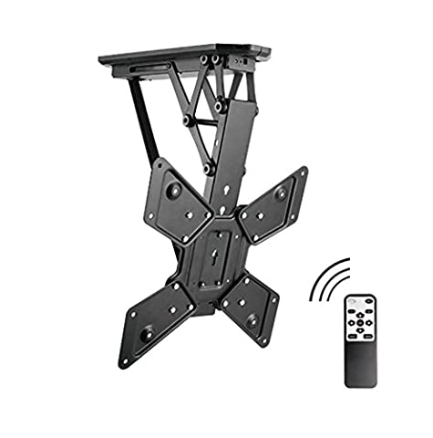 Allcam Electric Motorised TV Bracket Ceiling Mount w/ Storage & Viewing Position, 6° Level Adjustment & Height Adjustment to suit most LCD / LED / Plasma TVS 32 - 55