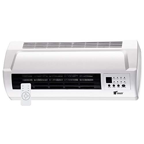 Calefactor eléctrico Mural, 2 ajustes de Calor, 1000-2000W.Temporizador y Control Remoto. Incluye Todo...