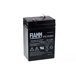 FIAMM Original Replacement Battery for Peg Perego Feber Injusa Smoby Diamec 6 V 4 5AH1, Lead Acid, 6 V