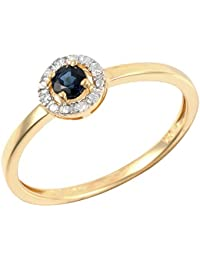 793fd5f67 Ivy Gems 9ct Yellow Gold Round Cut Blue Sapphire Solitaire Ring