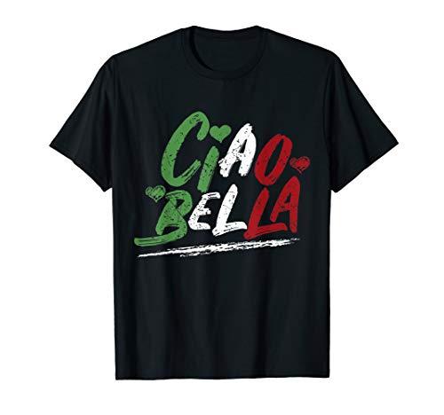 Ciao Bella Italien Flag Shirt, italienisches T-Shirt