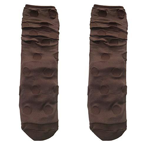 Sechs Color Fluorescent-set (HXDZSW 7pairs Socks Damensocken Helle Und Transparente Sockenhaufen Fluorescent Color Dot Mesh Crystal Strümpfe Fashion Socken Fairy Socken (Color : The Picture Color, Size : One Size))