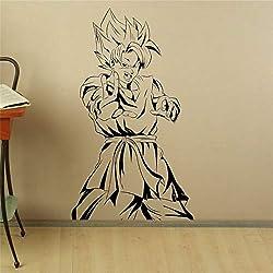 guijiumai Son Goku Sticker Manga Anime Vinyle Autocollant Japonais Home Intérieur Chambre Décor Art Mural Porte Autocollant Articles Ménagers Rose S 48 x 85 cm