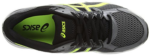 ASICS - Gel-Contend 3, Scarpe Da Corsa da uomo Nero (Carbon/Flash Yellow/Black 7307)