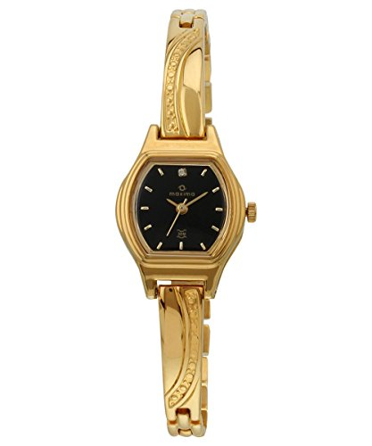 Maxima Formal Gold Analog Black Dial Women's Watch - 09436BPLY image