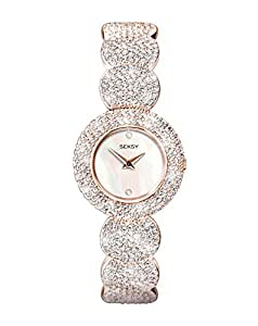 Sekonda Women's Quartz Watch with Mother of Pearl Dial Analogue Display and Rose Gold Alloy Bracelet 4852.37
