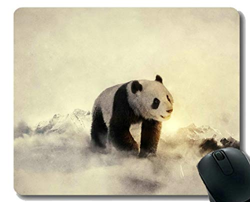 Yanteng Gaming Mouse Pad mit genähtem Rand, Handtuch Animal Panda, Mouse Mat, Rutschfeste Gummibasis Mousepad für Laptop, Computer