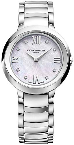 Baume and Mercier Women's Promesse Diamond Dial Mother of Pearl Watch MOA10158