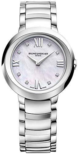 Baume e Mercier donna promesse diamante quadrante madreperla orologio MOA10158
