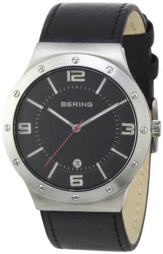 Bering Time - 12739-402 - Montre Homme - Quartz Analogique - Bracelet Cuir Noir