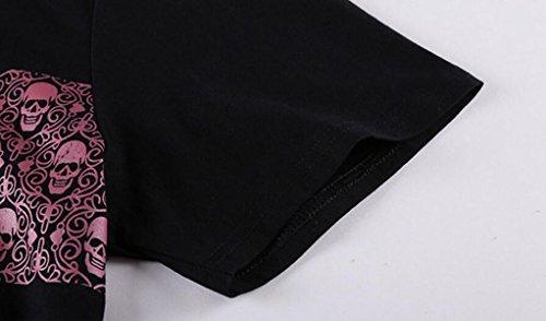 Sommer Männer Lose Kurzhülse Art Und Weise Einfach Baumwolle Kurzarm T-Shirts Black