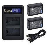 PHOTO MASTER 2X NP-FW50 Batterie de Rechange (1200mAh) et LCD Double Chargeur pour...