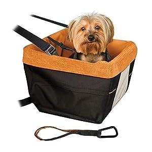 PETEMOO Hunde Autositz f/ür Kleine Mittlere Hunde und Katzen kleine Hundewelpe Reise Auto Besch/ützer Tragetasche Atmungsaktive wasserdichte Sitzbezug mit Sicherheitsleine