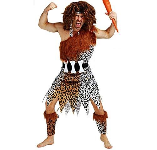 lovelegis PRI01 - Primitiver Höhlenmensch Costume - Primaten - Cavemen - Flintstones - Verkleidung Karneval Halloween Cosplay Zubehör - Einheitsgröße - Erwachsene