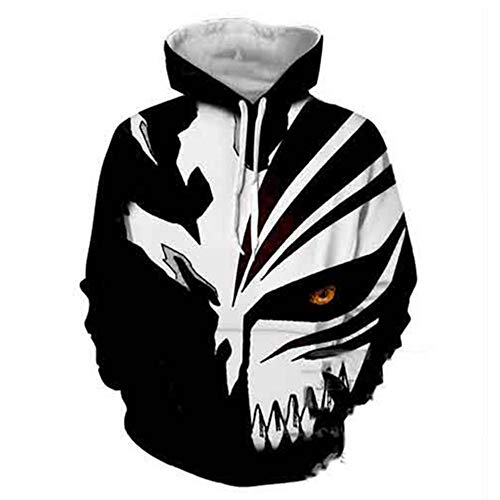 Cosplay Langarm 3D Print Sweatshirt Hoodie Strickwaren Kapuzenpullover Kapuzenjacke Grim Reaper S ()