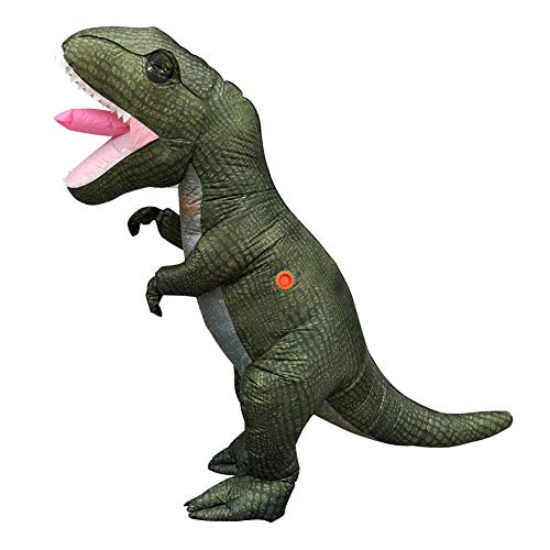 Kostüm Aufblasbar Tyrannosaurus Rex - ZYJFP Jura Halloween Aufblasbar KostüM,Weihnachten Cosplay Tyrannosaurus Rex Dekoration,Mit Erwachsener,FüR Szene AtmosphäRe Requisiten