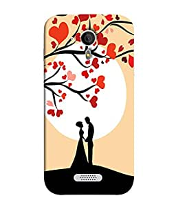 Fuson Designer Back Case Cover for Micromax Canvas HD A116 :: Micromax A116 Canvas HD (Lovers Valentine Mr Mrs Trees Husband Wife)