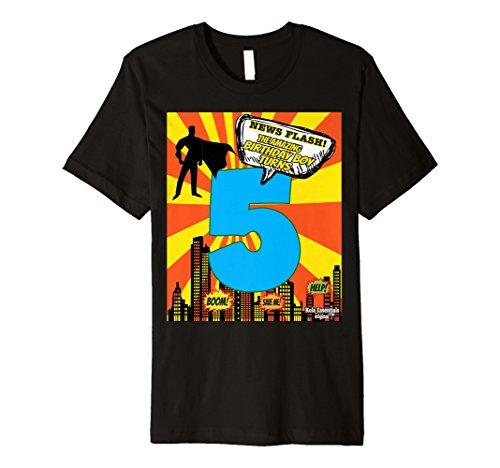 Superhero Birthday Shirts For Boys Size 5 Five Party Theme