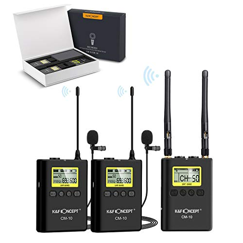 Kit micrófono solapa inalámbrico UHF 100 canales
