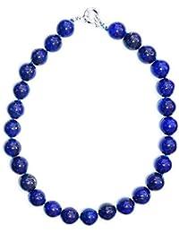 Collier de 45cm composé de Lapis Lazuli bleu marine de belle qualité et de 14mm de diamètre