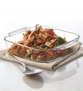 Borosil Square Dish with Handle, 800ml