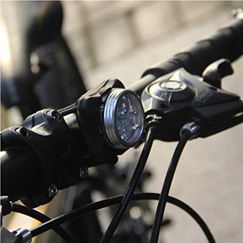 LED Fahrradlicht Set, Wasserdicht LED Fahrradlampe, USB Wiederaufladbare LED Fahrradbeleuchtung mit 4 Licht-Modus, 2 USB-Kabel Fahrrad Licht für Radfahren