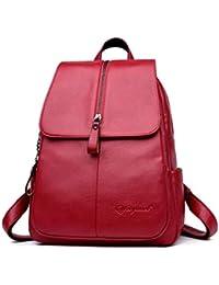 121109df1d84 DEERWORD Women s Backpack Handbags Shoulder Bags Laptop Bag School Backpack  Daypack PU Leather