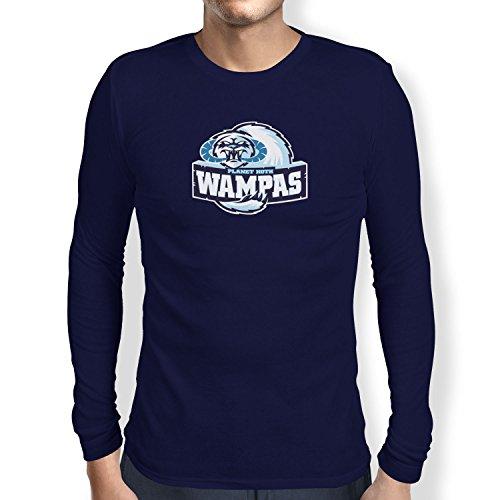 TEXLAB - Planet Hoth Wampas - Herren Langarm T-Shirt Navy