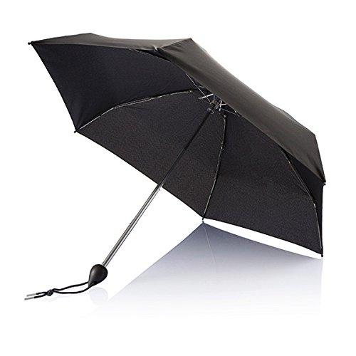 XD Parapluie de Poche Droplet, 88 cm, 19,5 Pouces, Noir