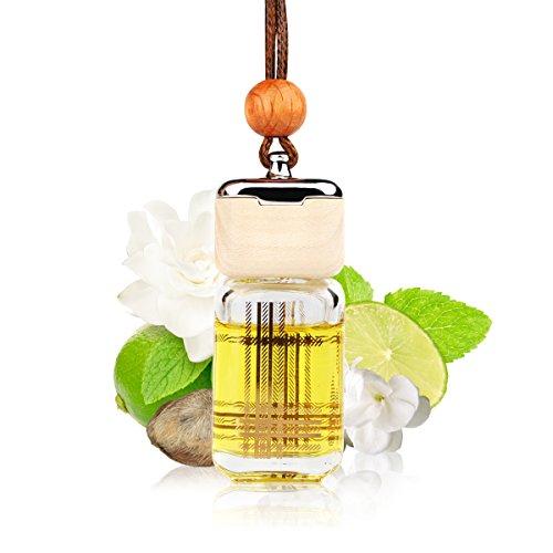 L J Auto Lufterfrischer, Autoduft, original französisches Parfumöl hergestellt bei Mane®, Auto Zubehör, Auto Duft, Leichter Duft fürs Auto, Hängefläschchen im Fahrzeug, Raumduft, 10ml (G-1224) -