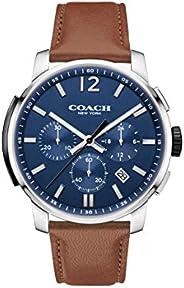 Coach Men's Navy Dial Brown Calfskin Watch - 1460